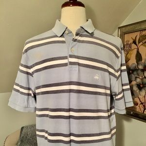 Brooks Brothers Striped Performance Polo Shirt